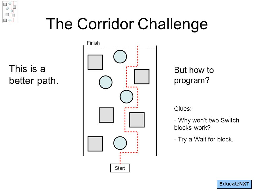 EducateNXT The Corridor Challenge This is a better path.