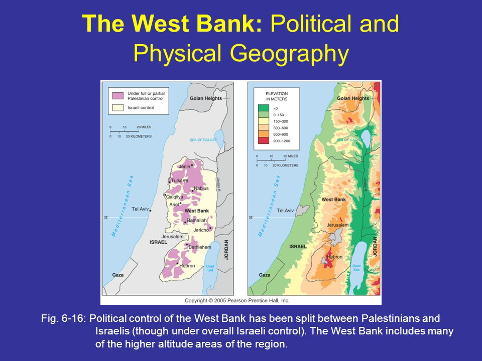 The West Bank: Political and Physical Geography Fig.