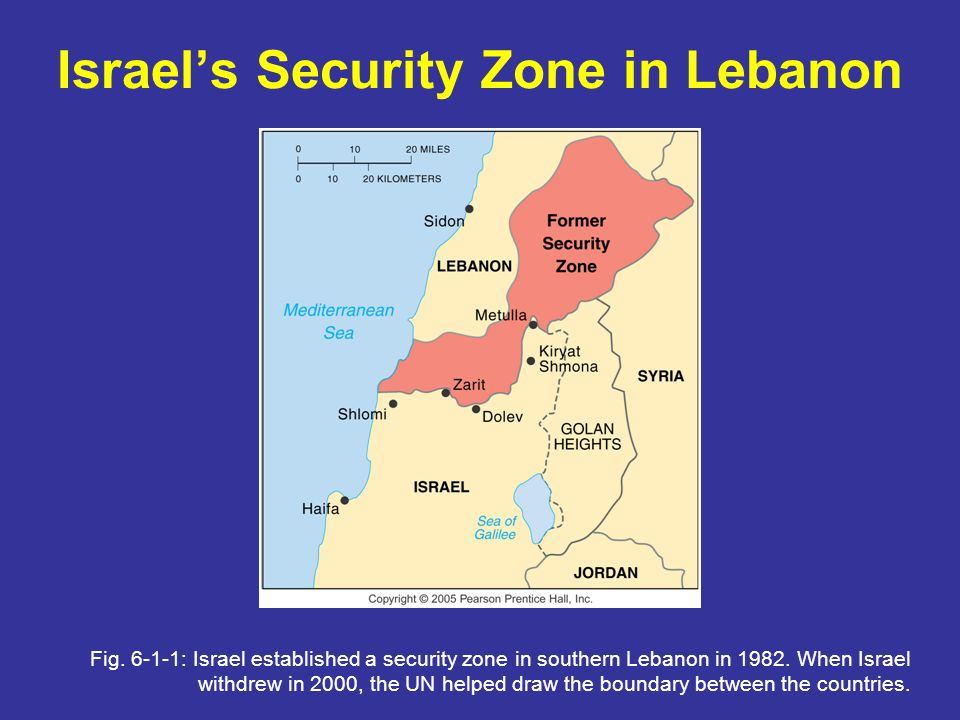 Israels Security Zone in Lebanon Fig.