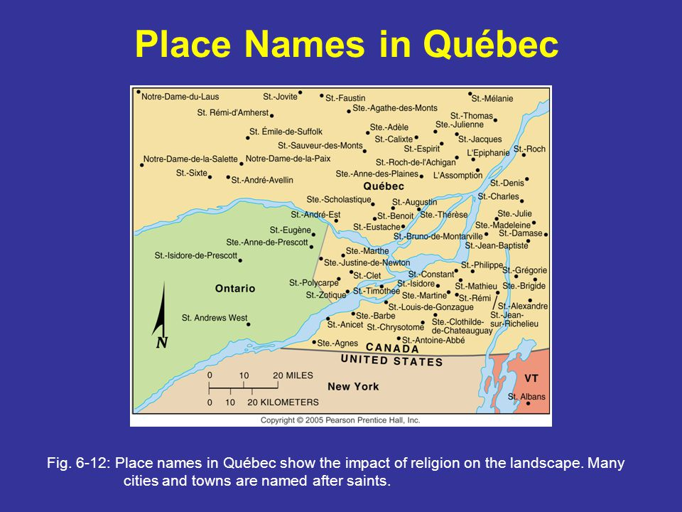 Place Names in Québec Fig.