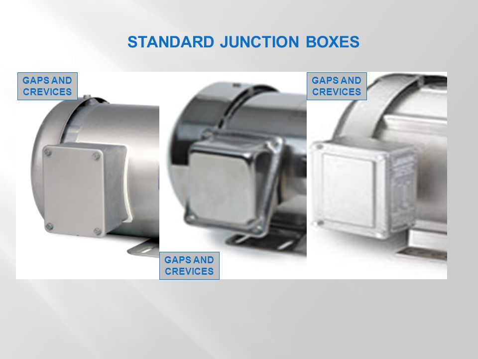 STANDARD JUNCTION BOXES GAPS AND CREVICES