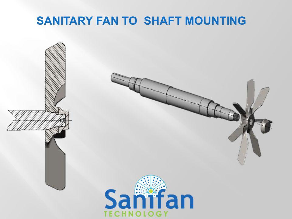 SANITARY FAN TO SHAFT MOUNTING