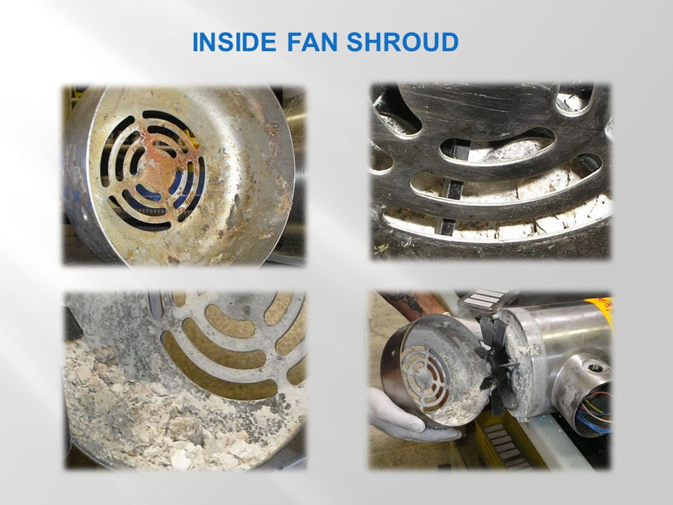 . ON ENDBELL, FAN AND HARDWARE