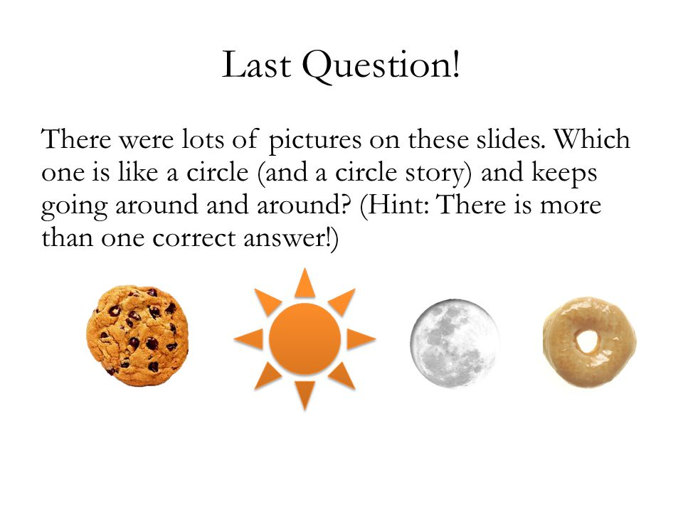 Last Question. There were lots of pictures on these slides.