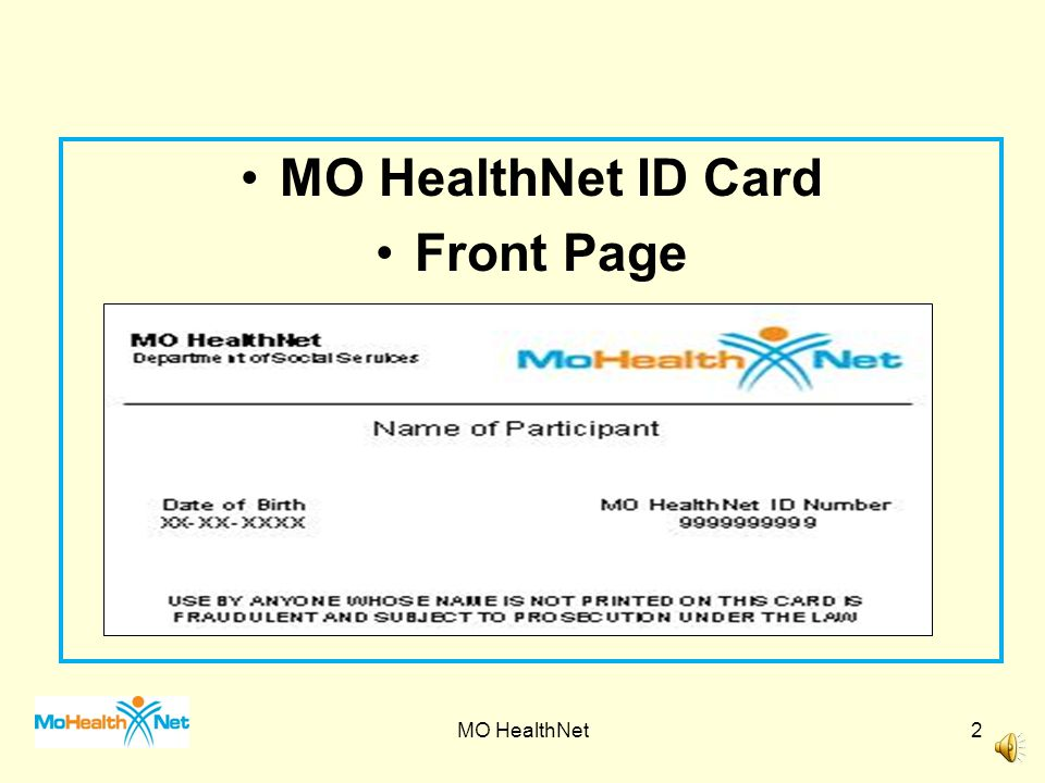 Determining Eligibility and Benefits MO HealthNet1