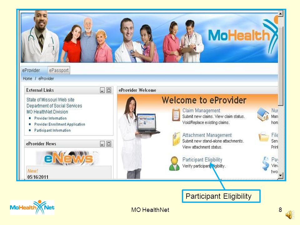 Emomed Log on Screen MO HealthNet7