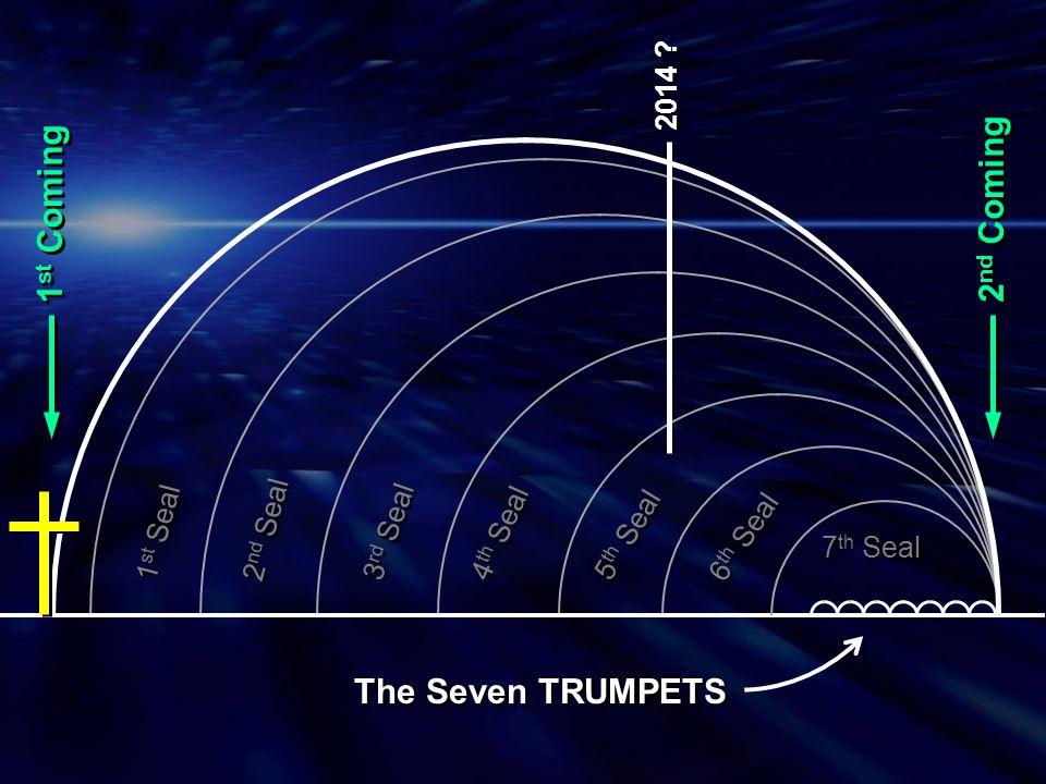 1 1 2 2 3 3 4 4 5 5 6 6 7 7 The 7 Trumpets Rev 8:7 Hail, Fire and Blood Rev 8:8-9 Burning Mountain Rev 8:10-11 Star - Wormwood Rev 8:12 Sun Smitten Rev 9:1-12 Plague of Locusts