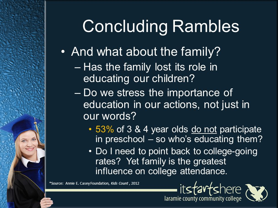 Concluding Rambles And what about the family.