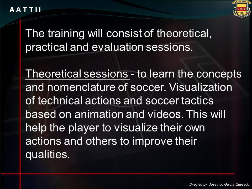 A A T T I I The training will consist of theoretical, practical and evaluation sessions.