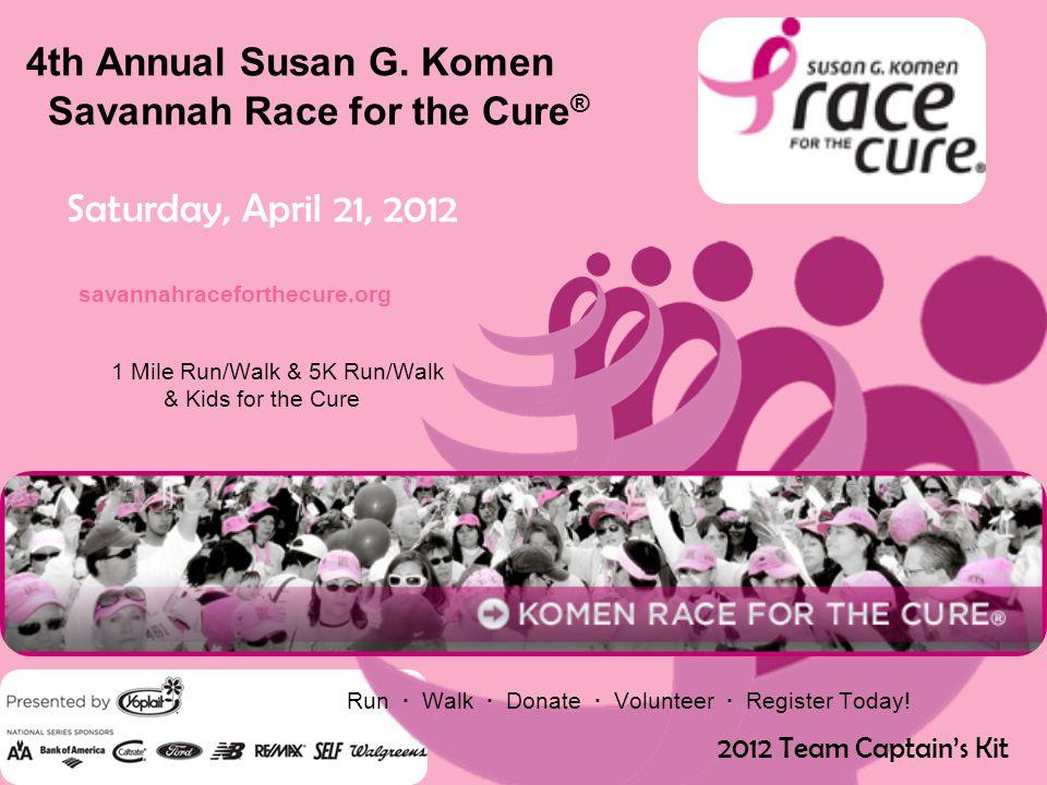 4th Annual Susan G.