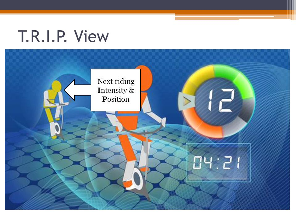 T.R.I.P. View Next riding Intensity & Position
