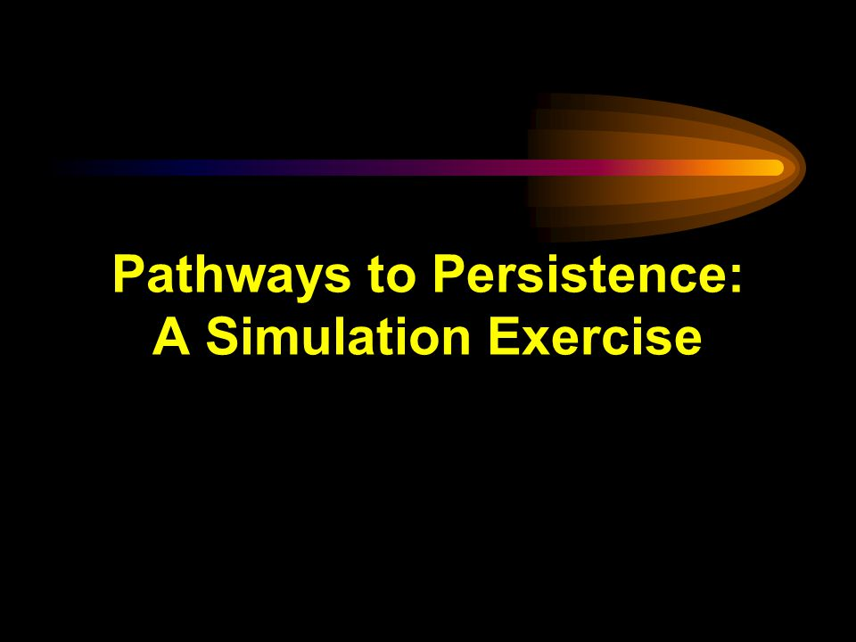 Pathways to Persistence: A Simulation Exercise