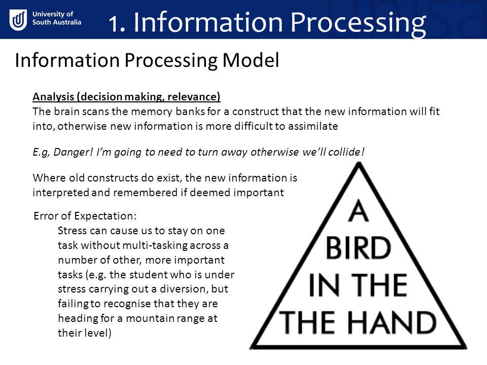 1.Information Processing Information Processing Model Action (doing something or nothing, e.g.