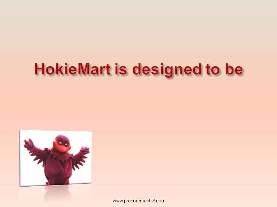 provide an overview of the main roles and terms used in the HokieMart system give a quick reference of computer system requirements to run HokieMart o