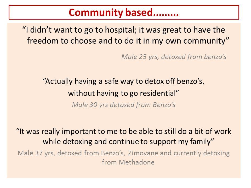Community based.........