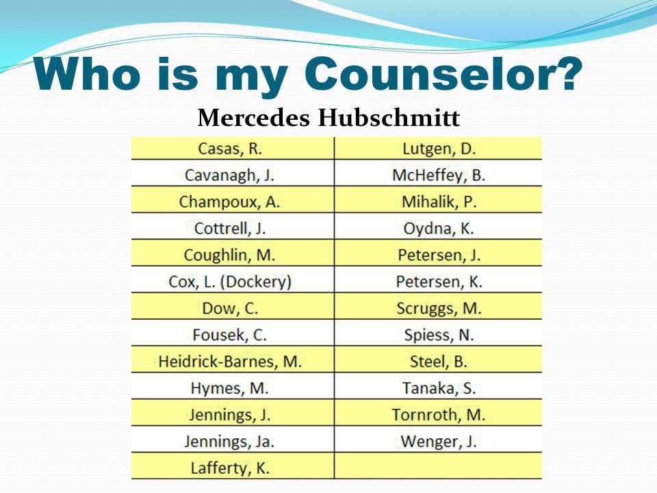 Who is my Counselor Mercedes Hubschmitt