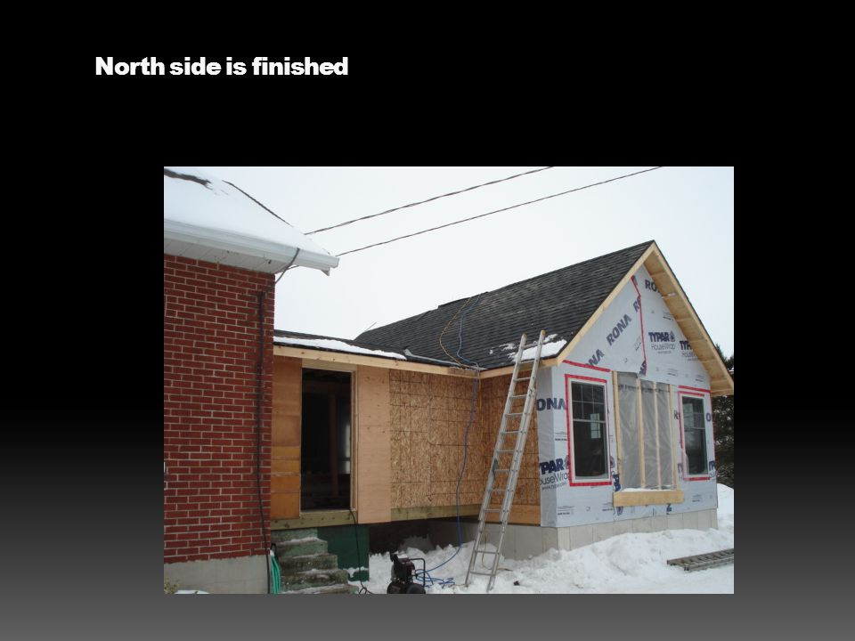North side is finished