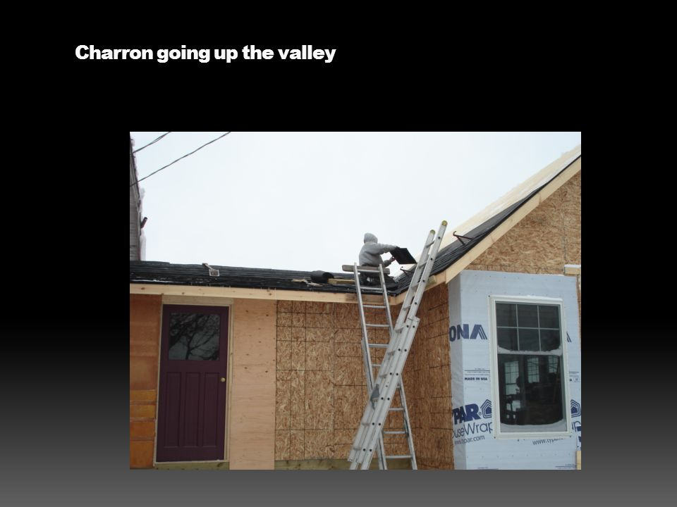 Charron going up the valley