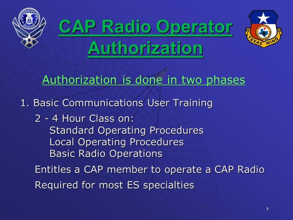 3 CAP Radio Operator Authorization 1.