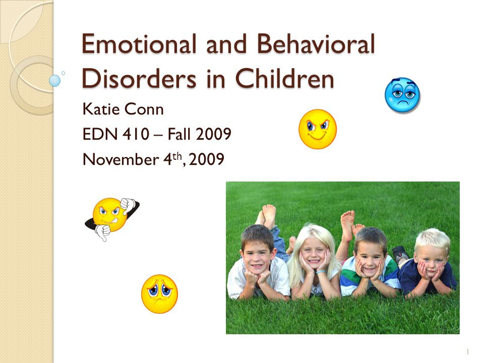 DESCRIPTION The descriptor emotional and behavioral disorders is commonly used for students whose behavior falls considerably outside the norm.