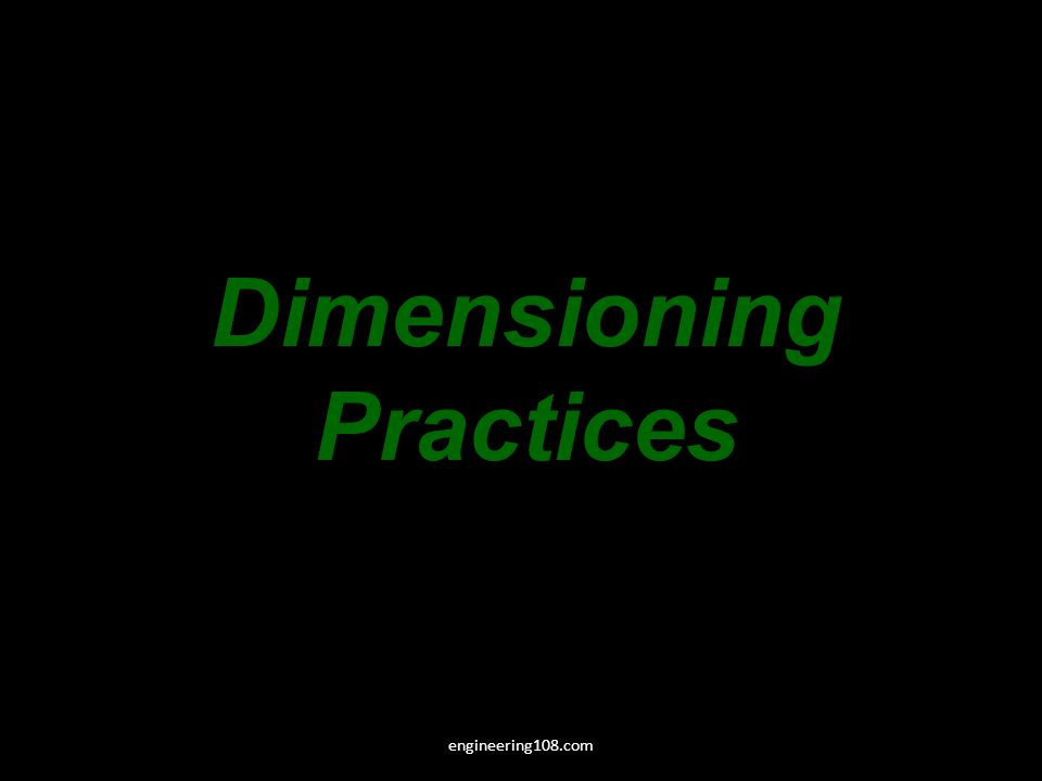 Dimensioning Practices engineering108.com