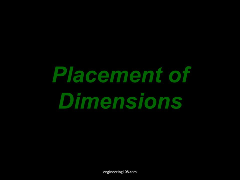 Placement of Dimensions engineering108.com