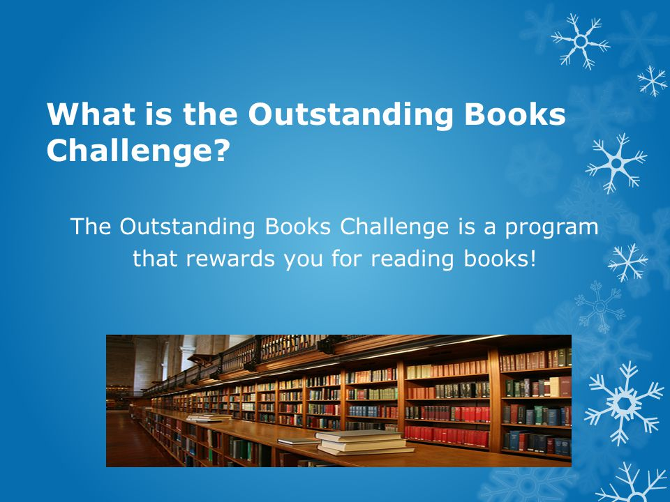 What is the Outstanding Books Challenge.