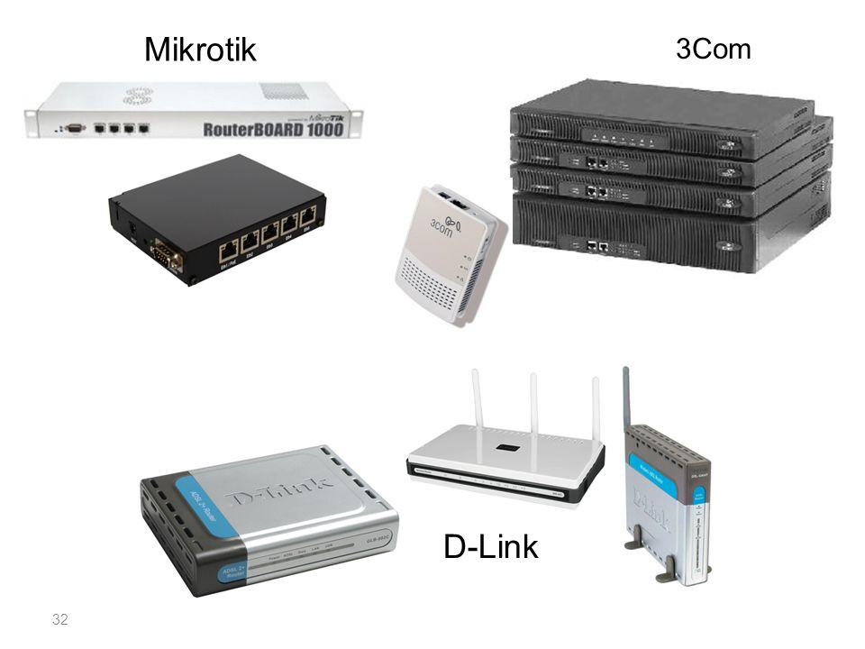Mikrotik 3Com D-Link 32