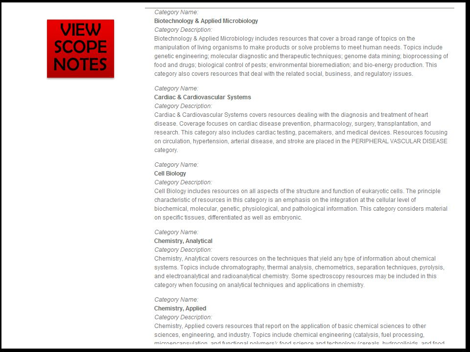 VIEW SCOPE NOTES