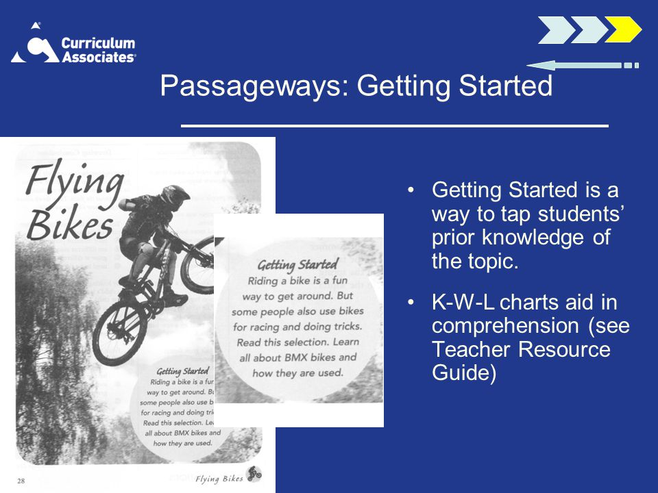 Passageways: Getting Started Getting Started is a way to tap students prior knowledge of the topic.