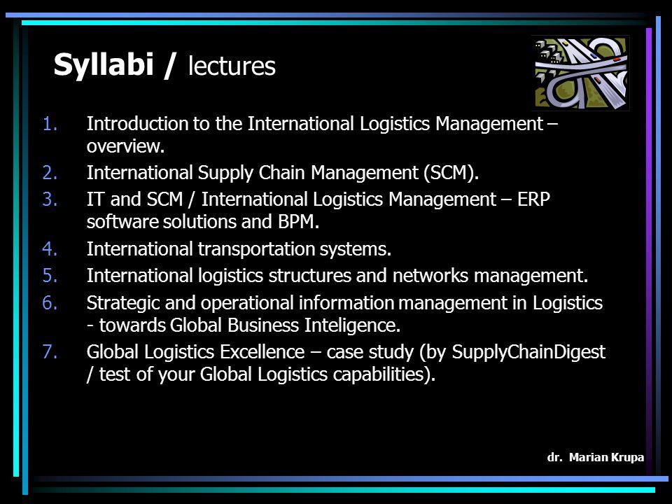 Logistics – GB job market? dr. Marian Krupa