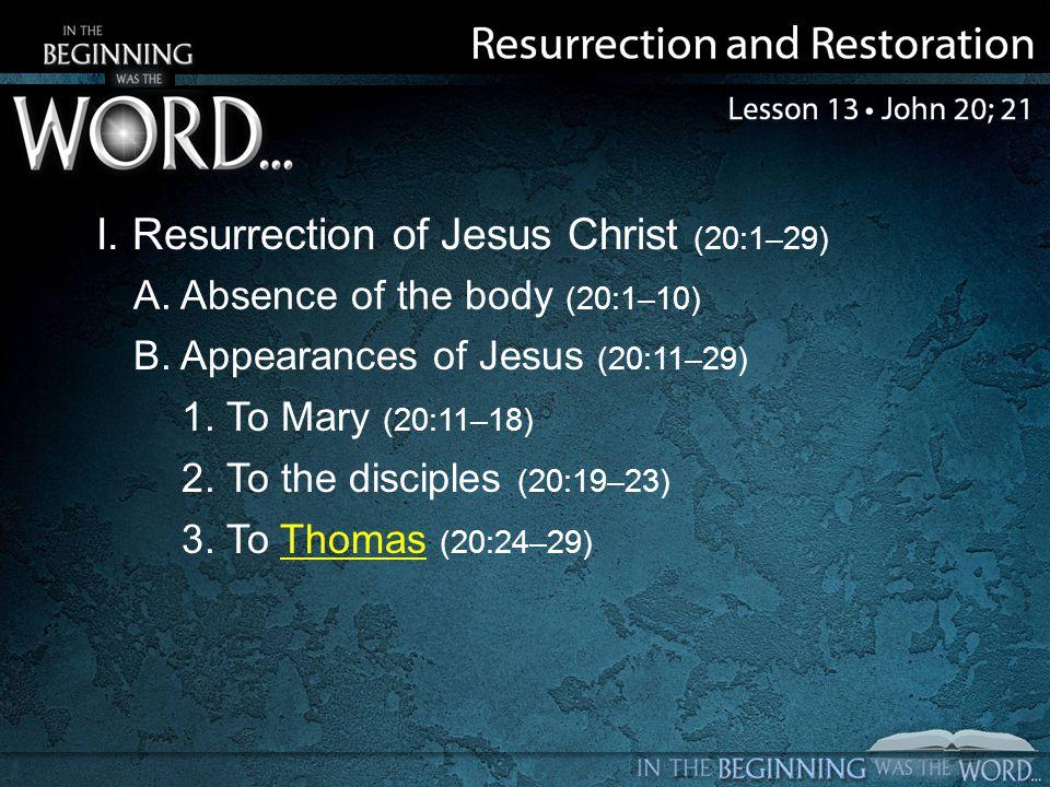 II. Reason for Writing the Gospel (20:30, 31)