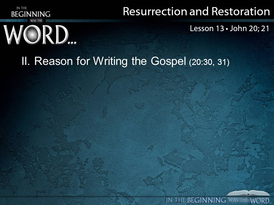 III.Epilogue to the Gospel (21:1–25) A. Catch of fish (21:1–14) B.