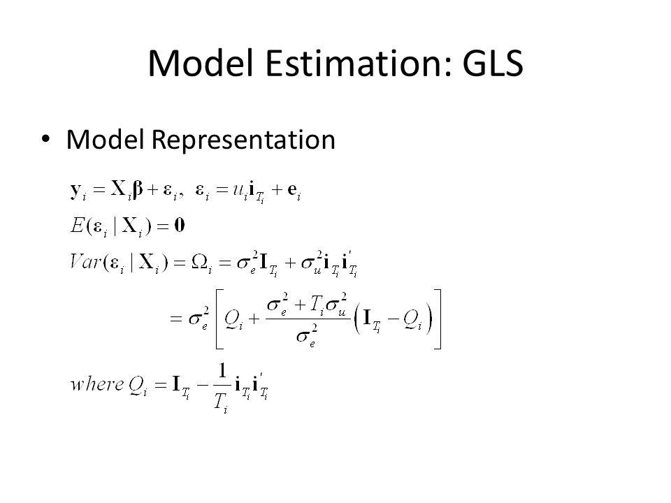 Model Estimation: GLS Model Representation