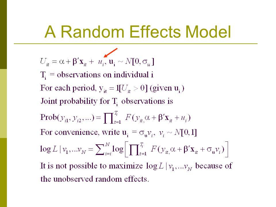 A Random Effects Model