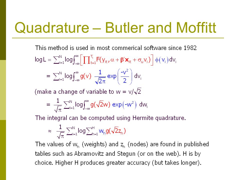 Quadrature – Butler and Moffitt