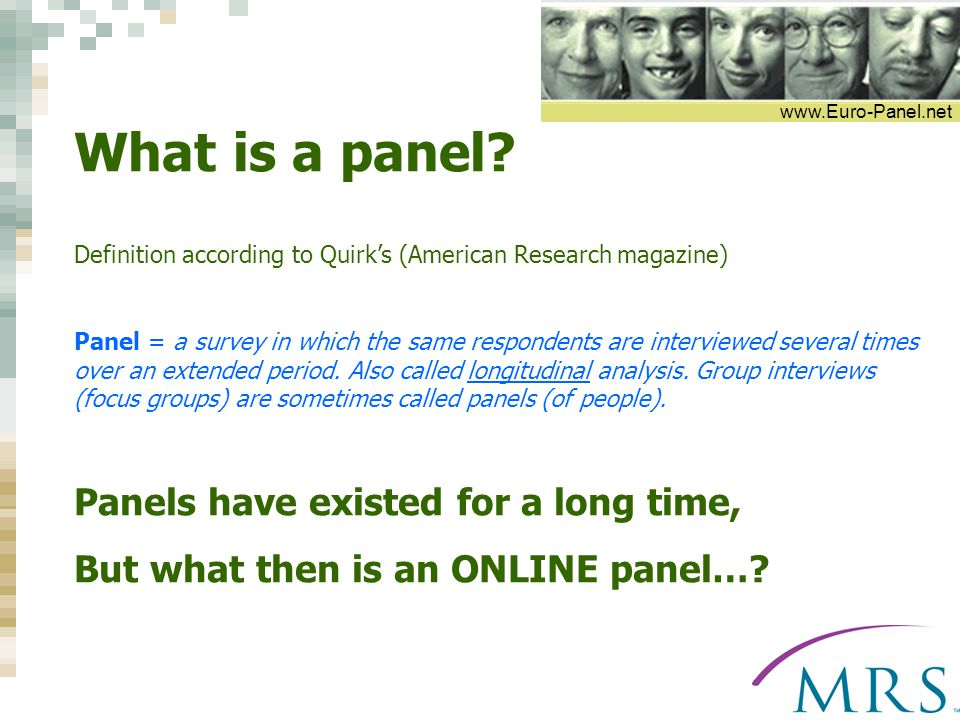 www.Euro-Panel.net What is a panel.