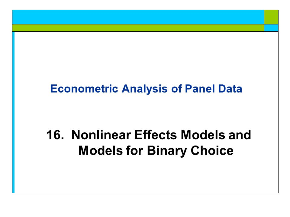 Part 16: Nonlinear Effects [ 43/103] A Dynamic Model for Public Insurance Age Household Income Kids in the household Health Status Add initial value, lagged value, group means