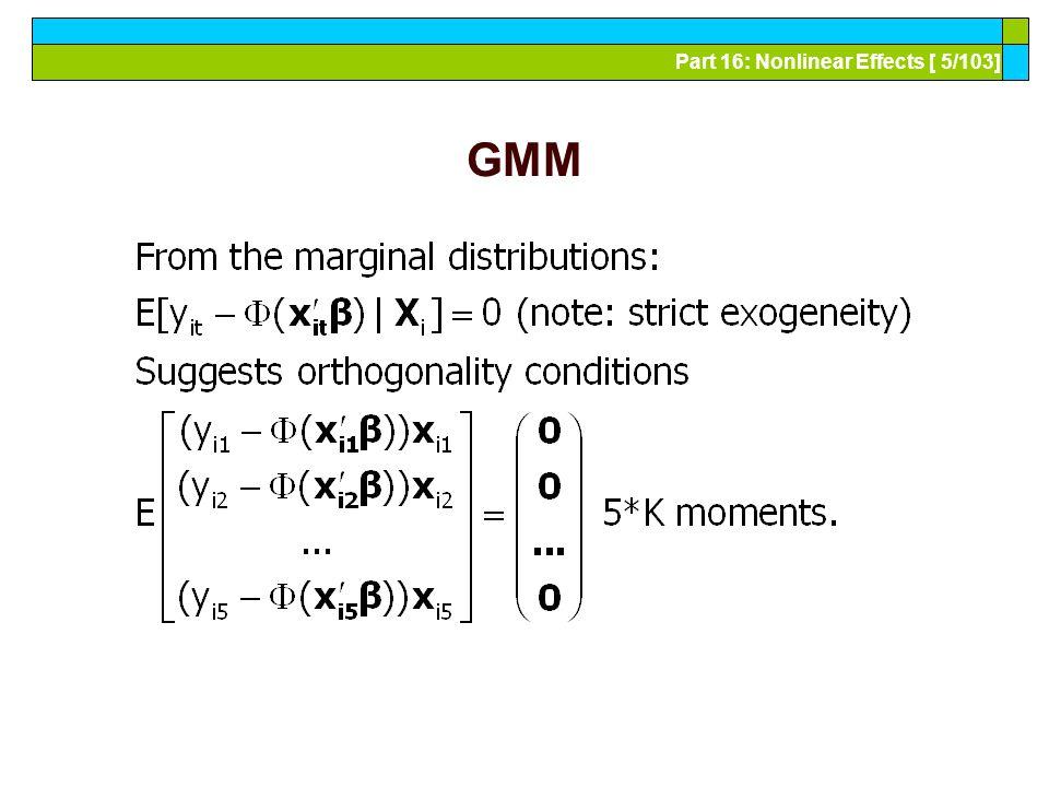 Part 16: Nonlinear Effects [ 6/103] GMM Estimation-1