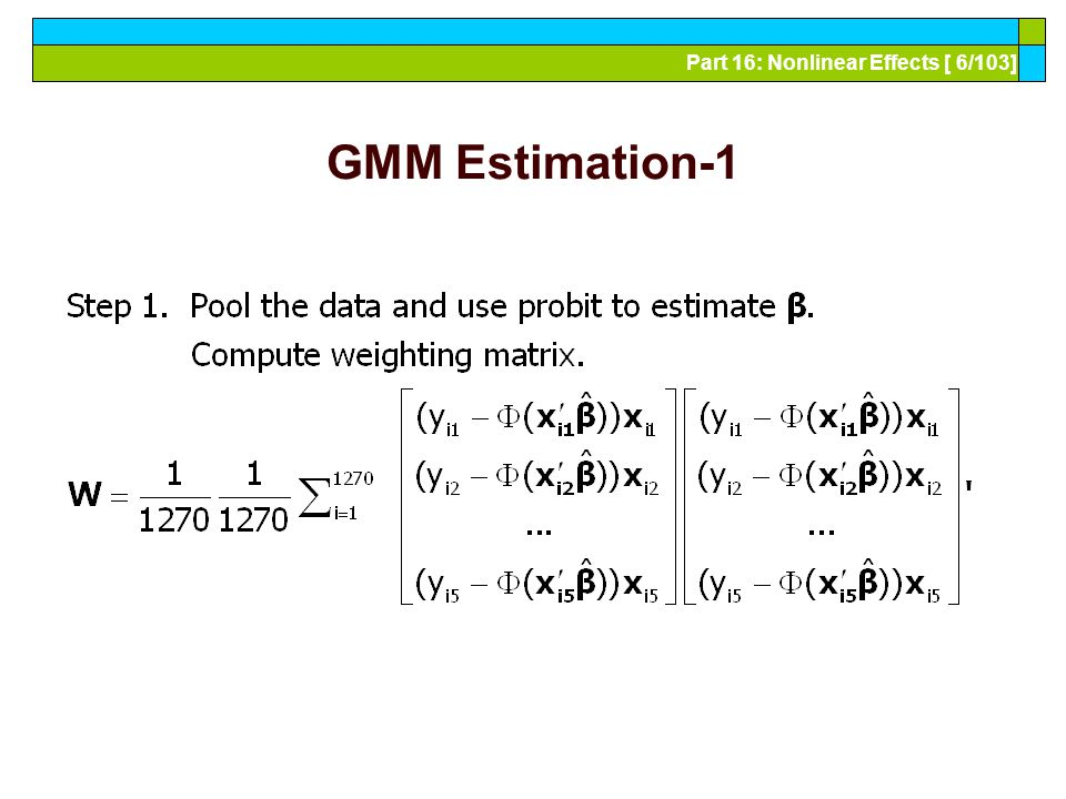 Part 16: Nonlinear Effects [ 37/103] Simulation Based Estimator