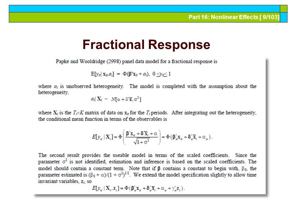 Part 16: Nonlinear Effects [ 10/103] Fractional Response Model