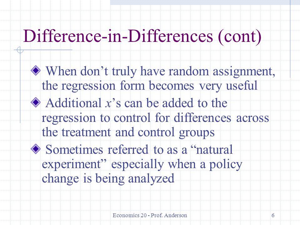 Economics 20 - Prof.Anderson17 Fixed Effects or Random.