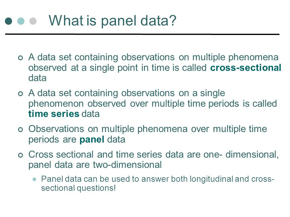 What is panel data.