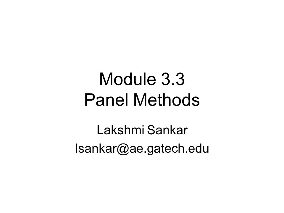 What are panel methods.