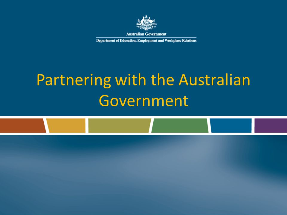 Partnering with the Australian Government