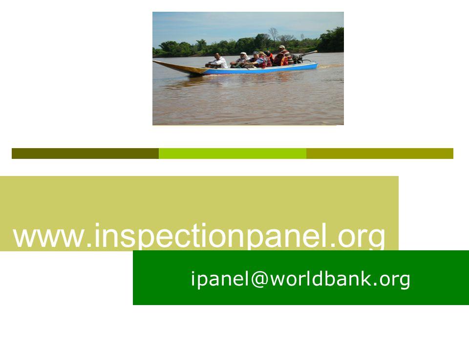 www.inspectionpanel.org ipanel@worldbank.org
