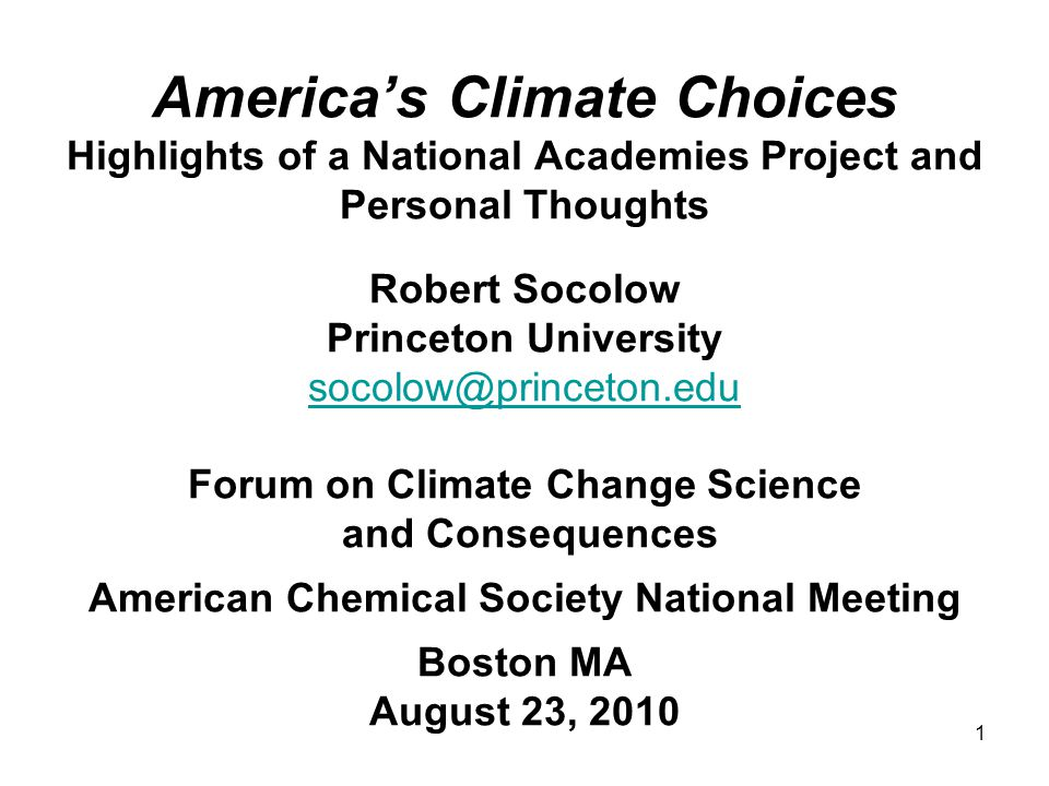 2 Americas Climate Choices A congressional initiative in 2008 to: …investigate and study the serious and sweeping issues relating to global climate change and make recommendations regarding what steps must be taken and what strategies must be adopted in response to global climate change, including the science and technology challenges thereof.