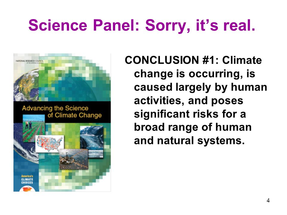 4 Science Panel: Sorry, its real.