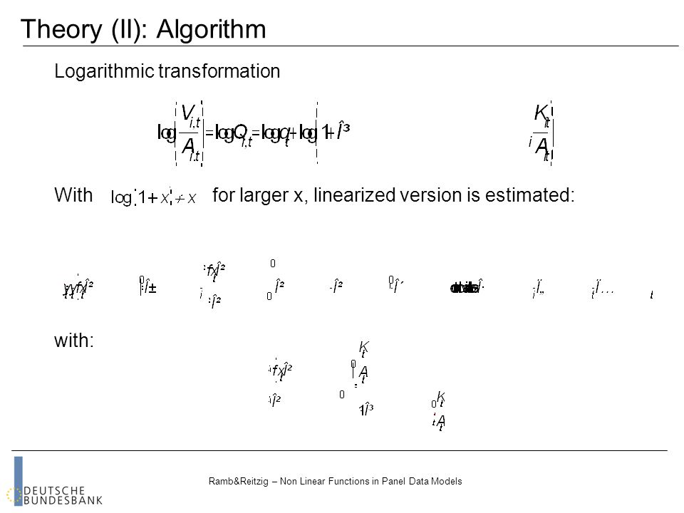 Ramb&Reitzig – Non Linear Functions in Panel Data Models