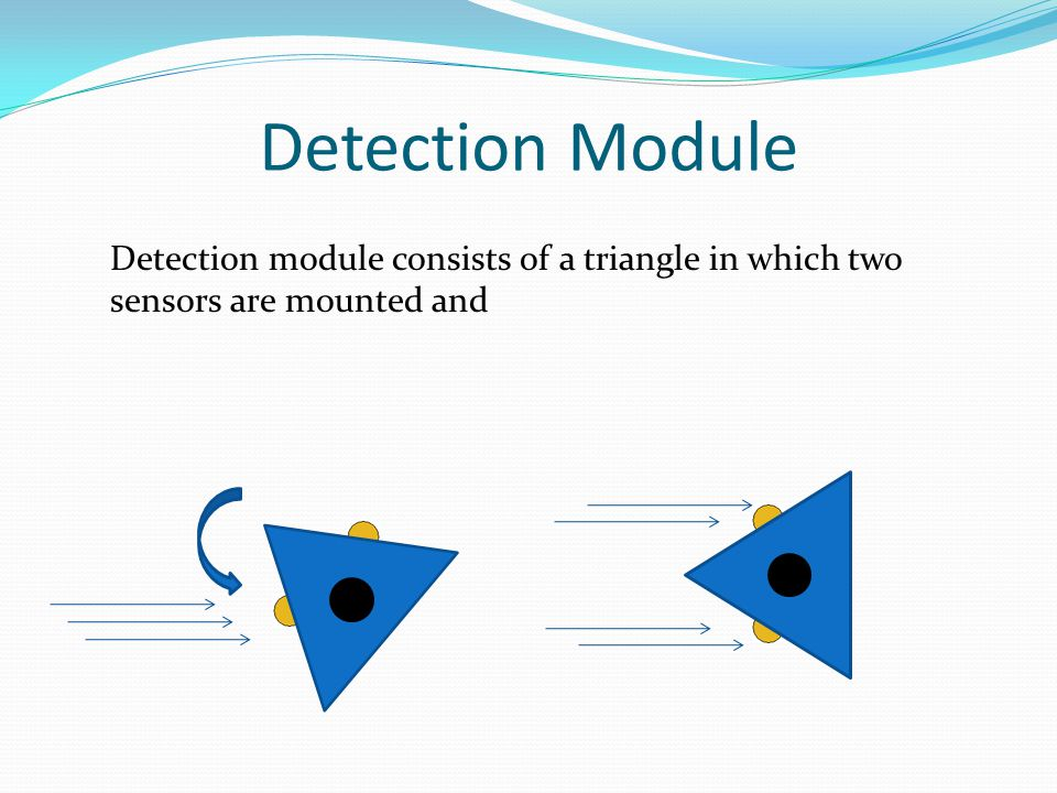 Detection Module Detection module consists of a triangle in which two sensors are mounted and